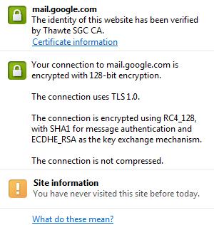 Use an SSL certificate